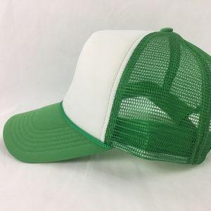 Trucker Baseball Cap Mom Hat Green and White Snap